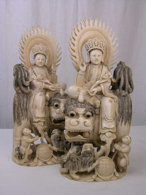 2765: ANTIQUE JAPANESE IVORY CARVING.