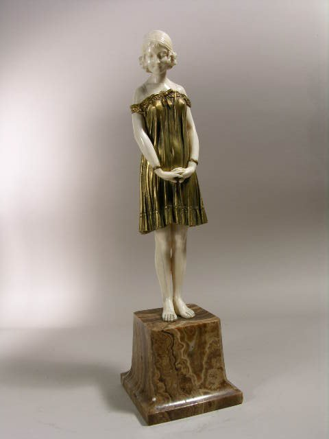 """2827: D.H. CHIPARUS FIGURE TITLED """"INNOCENCE""""."""