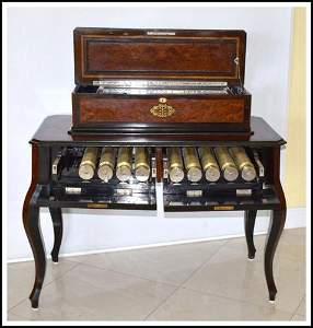 SWISS MUSIC BOX  TEN (10) INTERCHANGEABLE CYLINDERS  A