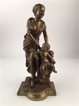 Laporte bronze sculpture Marchande D Amours