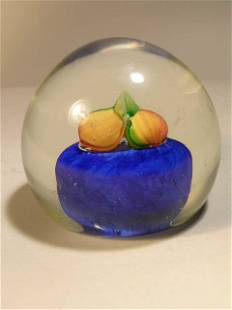 GLASS PAPERWEIGHT.