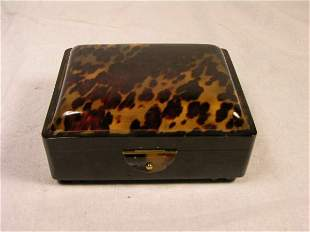 NATURAL SHELL TWO DECK CARD AND DICE CASE WITH PE