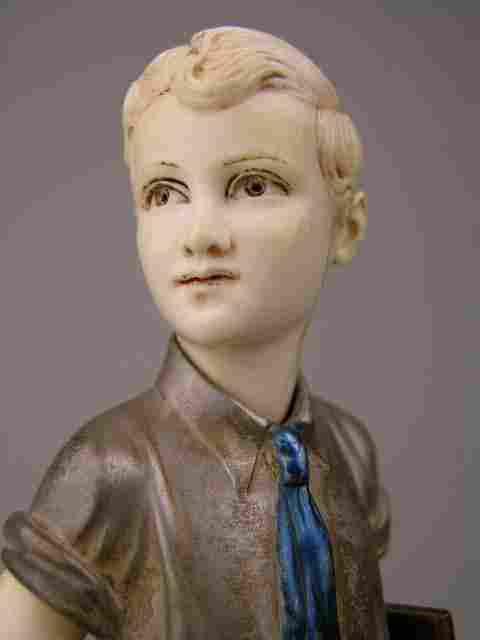 F. PREISS: CARVED FIGURE OF SONNY BOY.