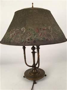 Tiffany desk light with original mesh shade.