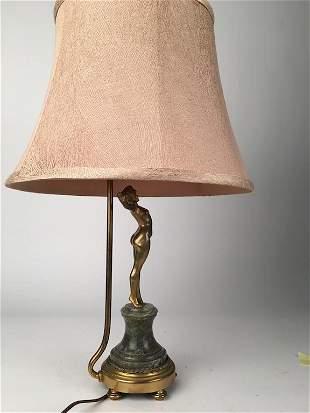 Paul Phillippe bronze nude as a lamp.