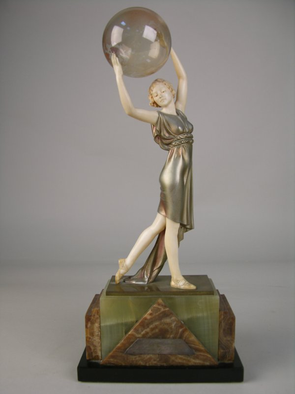 """9: BRONZE AND IVORY.  """"LIGHTER THAN AIR"""" BRONZE AND IVO"""