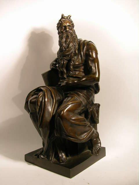 13: BRONZE SCULPTURE OF MOSES.