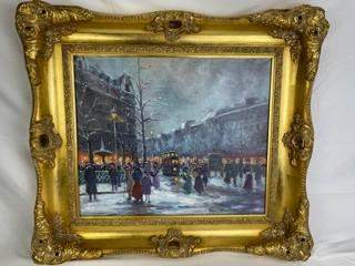 Antoine Blanchard, (French:1910-1988), Oil on canvas of