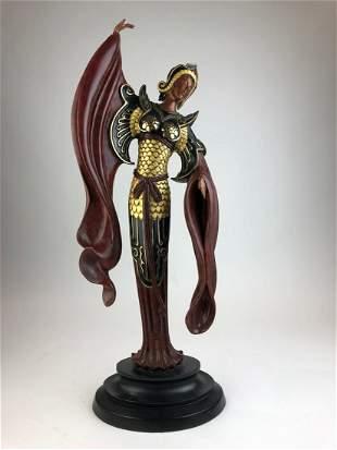 Erte (Romain De Tiftoff) bronze figure of a lady.