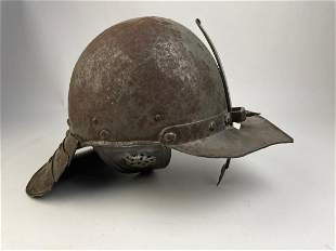 Lobster-tailed pot helmet.