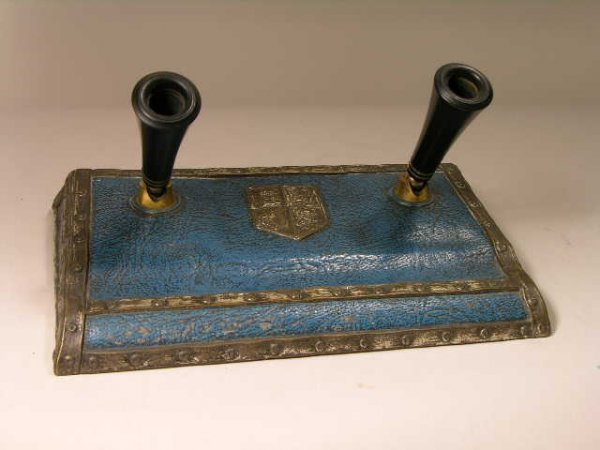 """18: TIFFANY DOUBLE PEN  HOLDER IN THE """"HERALDIC"""" PATTER"""