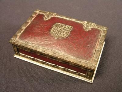 """21: TIFFANY STUDIOS UTILITY BOX  IN THE """"HERALDIC"""" PATT"""