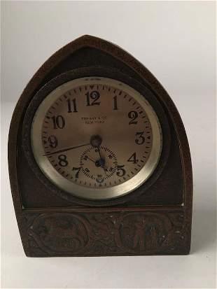 "Tiffany Studios ""Zodiac"" desk clock."