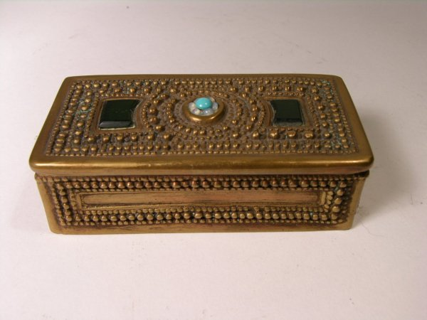 "1: TIFFANY ""BYZANTINE"" STAMP BOX."