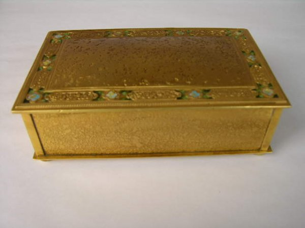"6: TIFFANY STUDIOS ""XX"" (DOUBLE X) BOX."