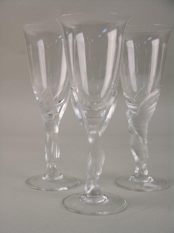 3: FABERGE SET OF THREE WINE GLASSES.