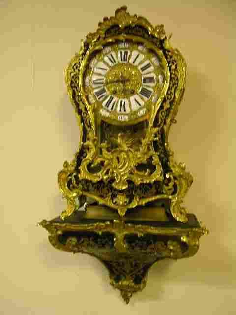 BOULLE 18 TH CENTURY BRACKET CLOCK.