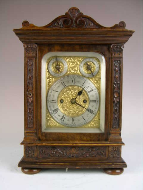 """7: ENGLISH MANTLE CLOCK BY """"BOWMAN LIMITED"""".   WOOD CAS"""