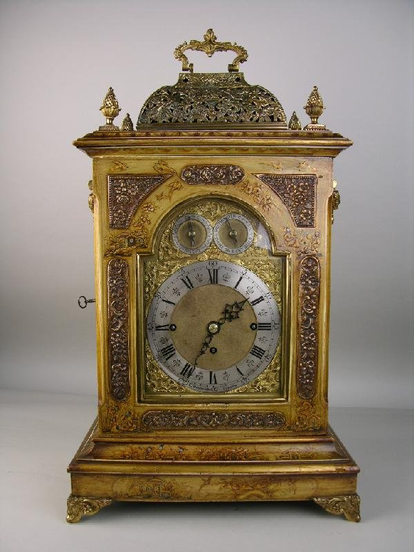 12: J.C. JENNENS AND SON ENGLISH MANTLE CLOCK.