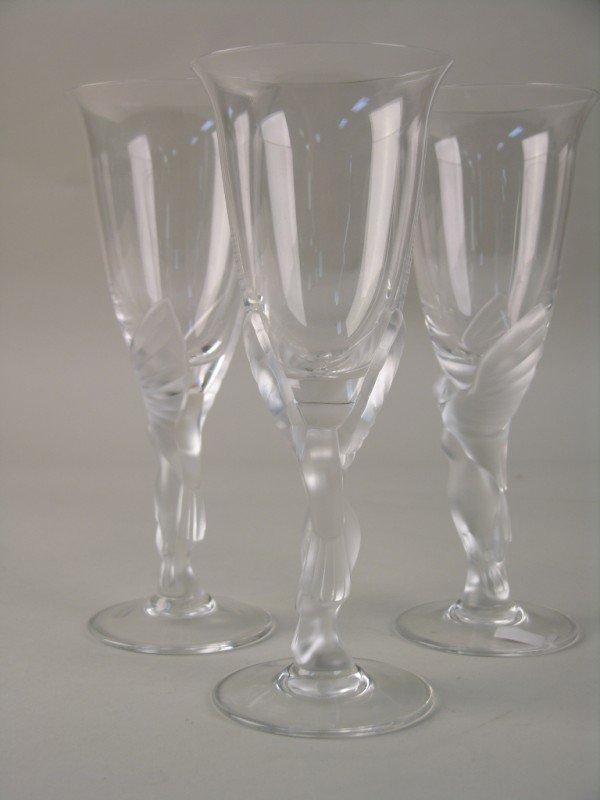 11: FABERGE SET OF THREE WINE GLASSES.