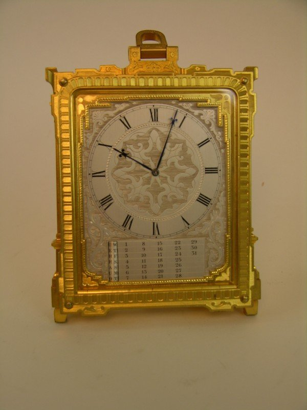 1: THOMAS COLE CLOCK (ENGLISH: 1800-1864) CLOCK WITH CA