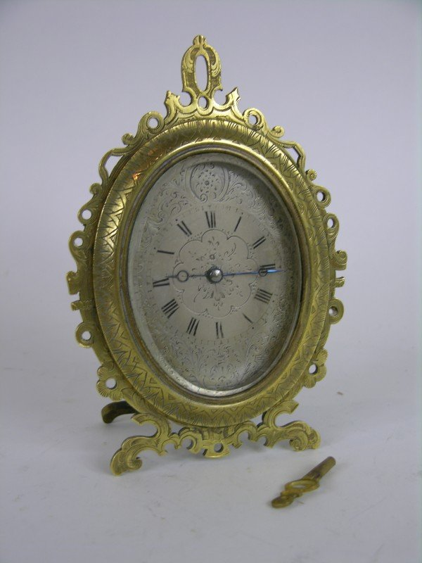 3: A VERY NICE STRUTT CLOCK IN THE MANNER OF THOMAS COL