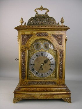 5: J.C. JENNENS AND SON ENGLISH MANTLE CLOCK.