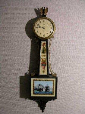 "6: A WILLARD BANJO CLOCK STAMPED ""TIFFANY AND COMPANY N"
