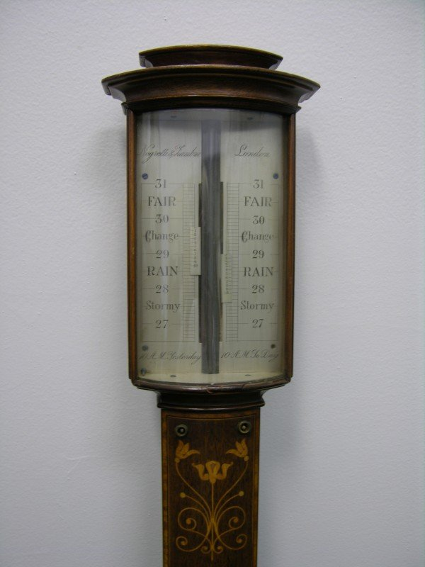 20: MAHOGONY ENGLISH BAROMETER.