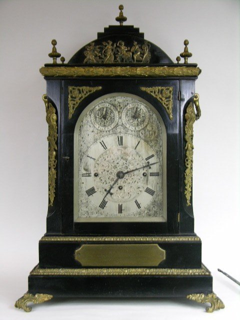 6A: A VERY RARE AND GOOD ENGLISH MANTLE CLOCK.
