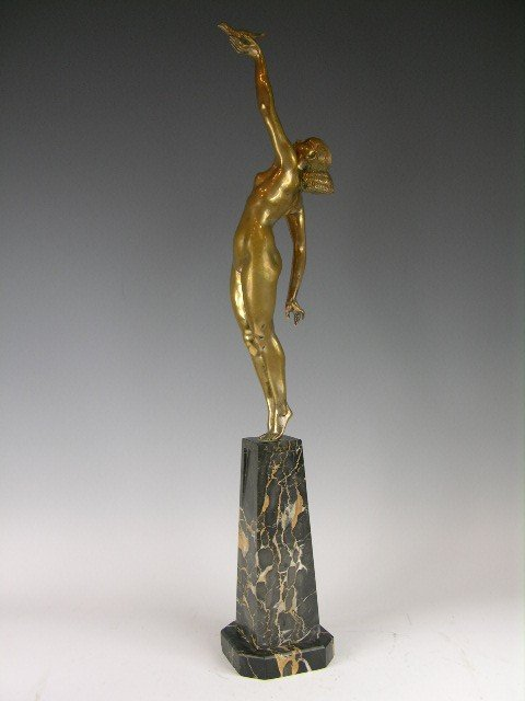 22: PIERRE LE FAGUAYS (FRENCH; 1892-1935) A GOLD GILT B