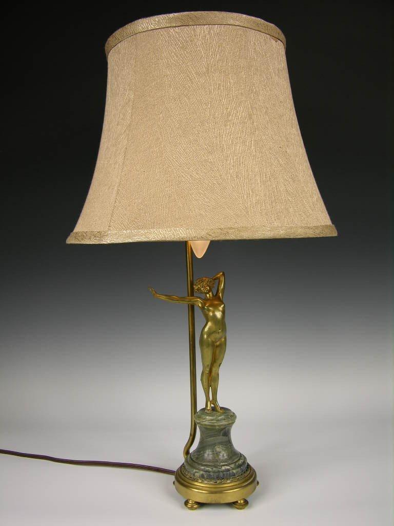 13: PAUL PHILLIPPE BRONZE NUDE AS A LAMP.