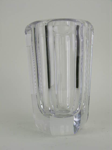 5: Kosta Boda crystal vase, signed.