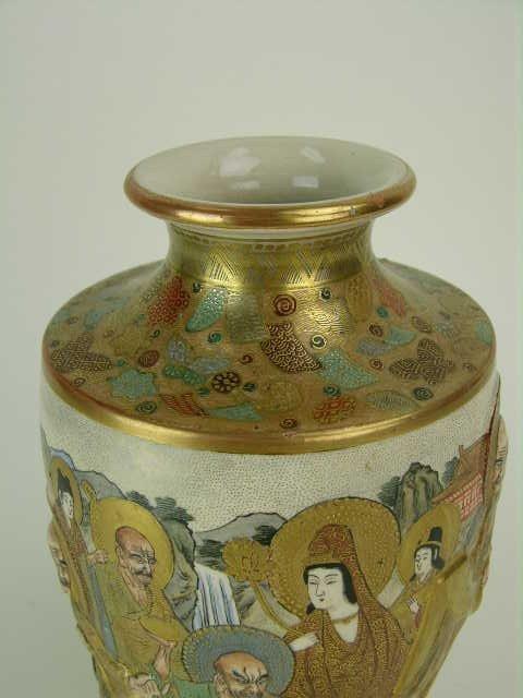 9: Signed Satsuma vase. - 3