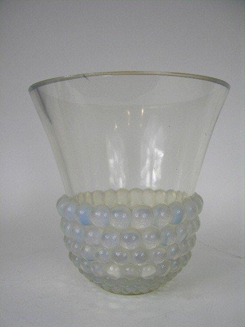"""147: A Rene Lalique """"Graines"""" vase."""