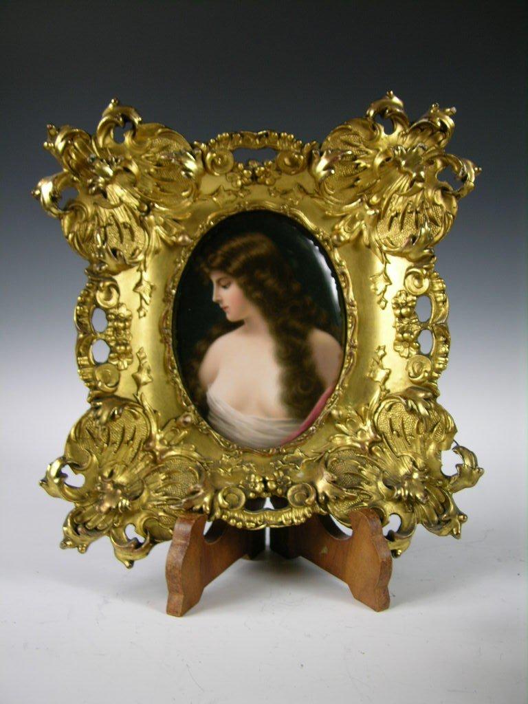 156: 18th Century KPM porcelain plaque