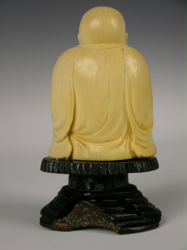 9: Chinese carved ivory figure of Buddha. - 2