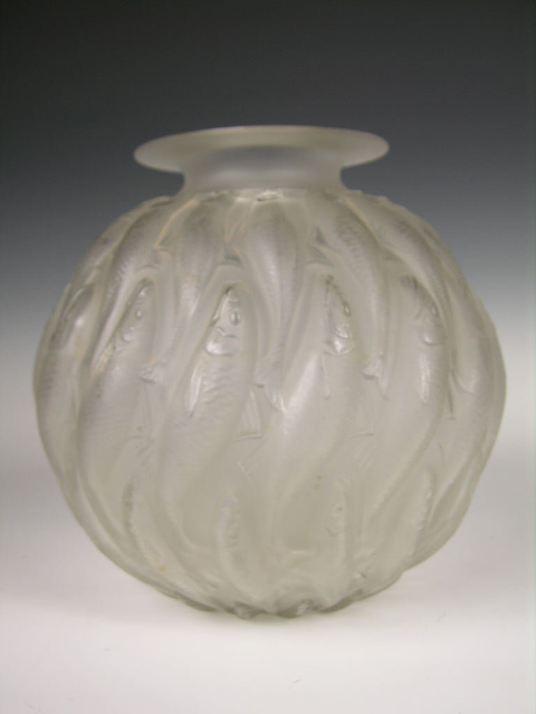 "103: Rene Lalique ""Marisa"" vase, decorated with swimmin"