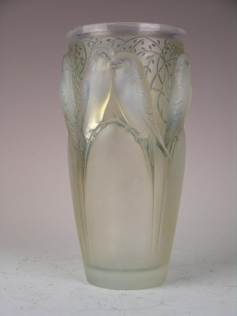 "105: Rene Lalique ""Ceylon"" vase in opalescent glass"