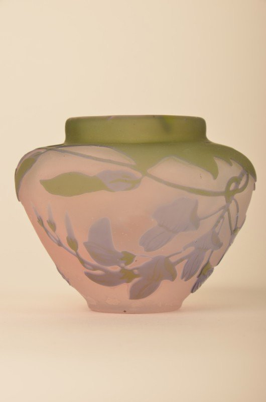 265: Emille Galle minature cameo vase.