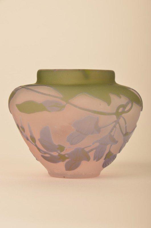 265: Emille Galle minature cameo vase. - 2