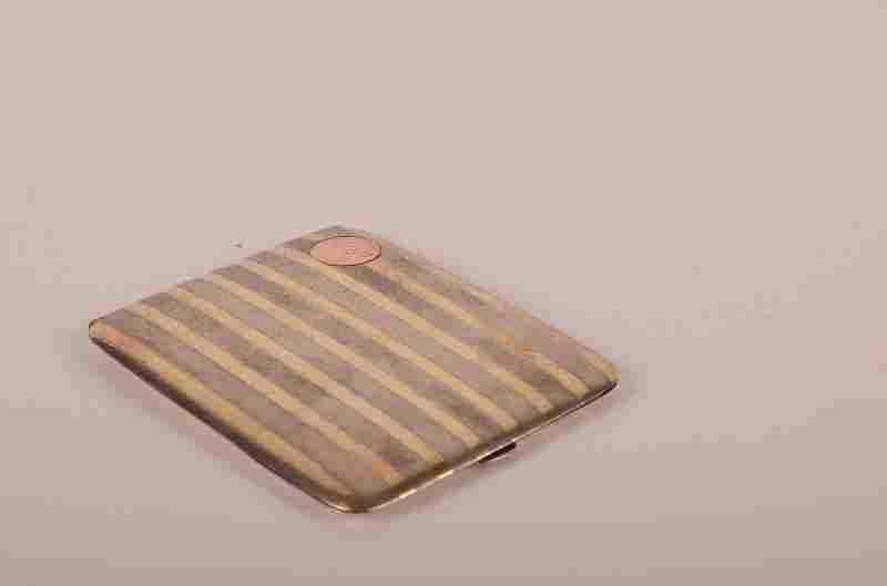 92: Vintage 14K Gold on Sterling Silver cigarette case,