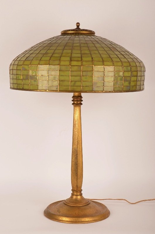 1: Tiffany Studios Geometric Table Lamp