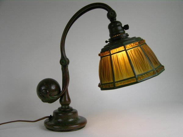 2: Tiffany Studios counter balance desk lamp