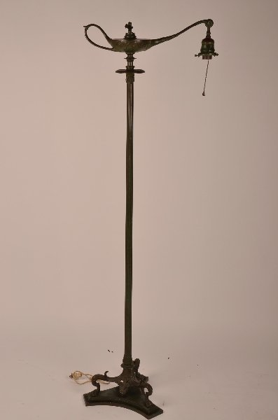 "4: Tiffany Studios ""Aladin"" floor lamp."
