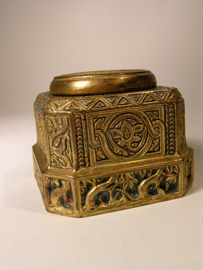 10: Tiffany Studios Venetian ink well.