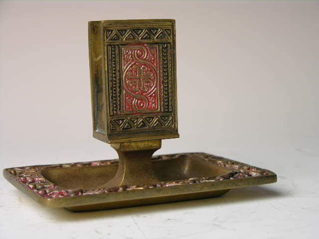 "12: Tiffany Studios ""Venetian"" match box holder/ashtray"