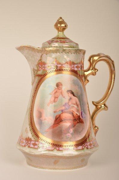 15: Royal Vienna Austria Coffee Pot, scenic reserve sig