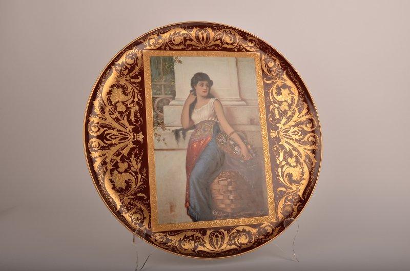 21: 19th century Royal Vienna porcelain portrait charge