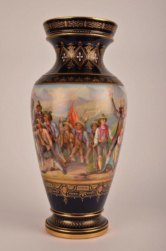 22: Royal Vienna Vase, Signed E. Latterman.